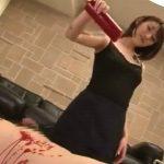 【ロウソク責め】刺青のランジェリー痴女がM男の体を赤く染めてたっぷり足を舐めさせる(森沢かな(飯岡かなこ))